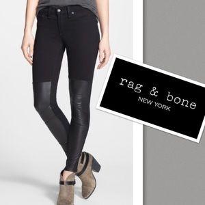 Rag & Bone | Samurai Legging Black & Leather Patch
